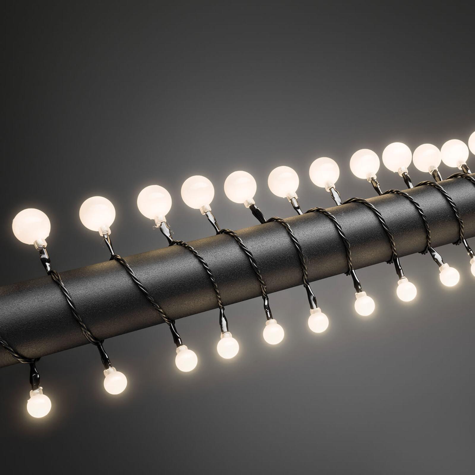 Kugle-LED-lyskæde, varmhvid, 80 lyskilder