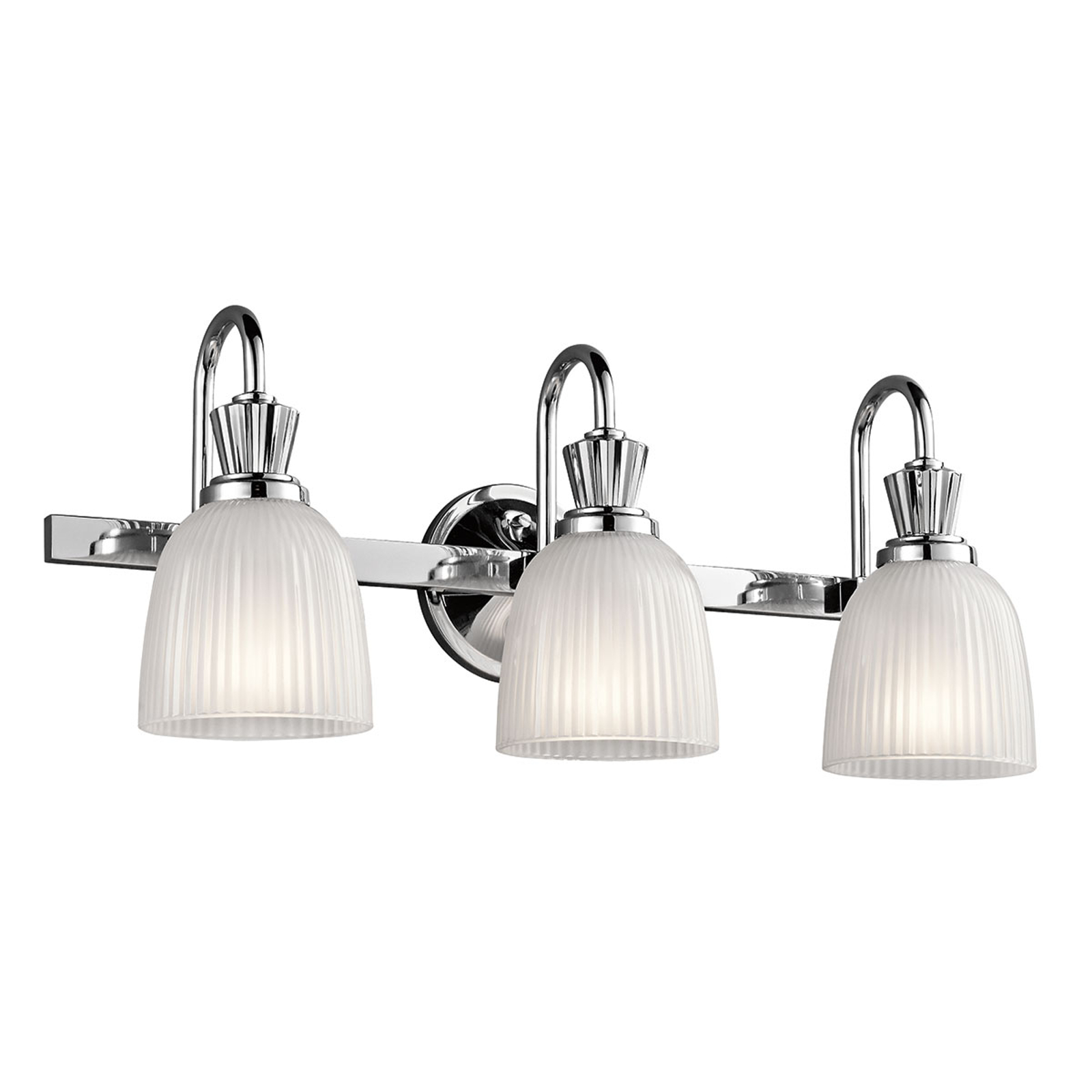 Applique salle de bain LED Cora au design brillant