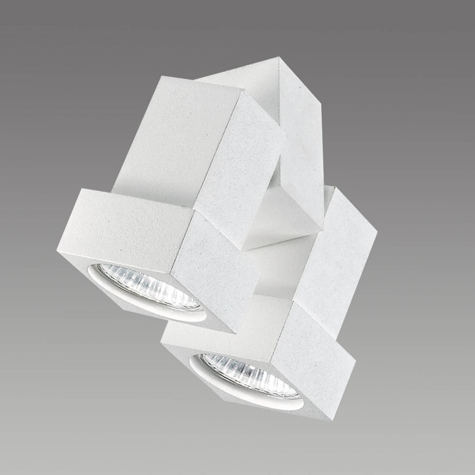 Reflektor ścienny lub sufitowy STYLE Q 2-pkt biały
