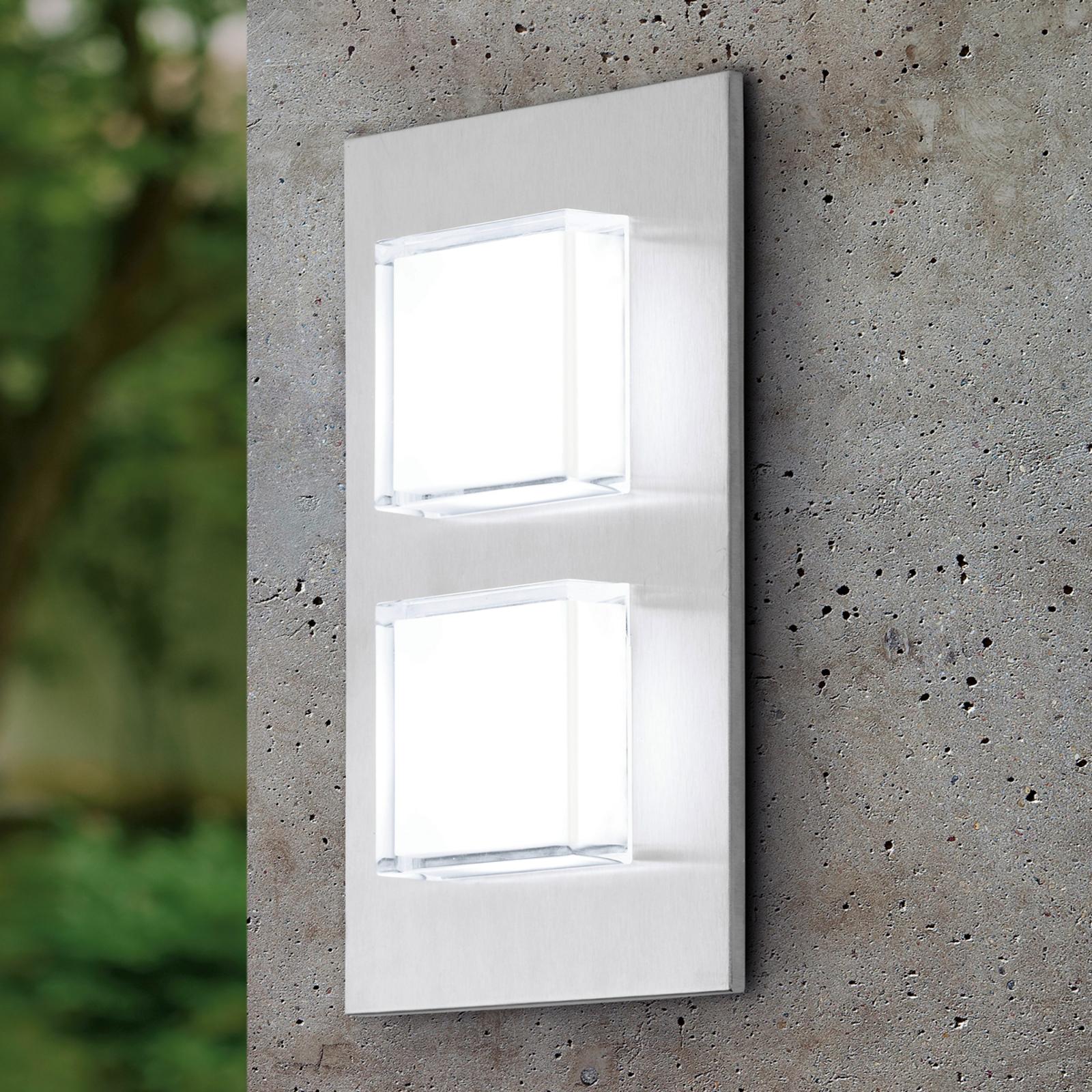 Dvoj-plameňové vonkajšie nástenné LED svetlo Pias