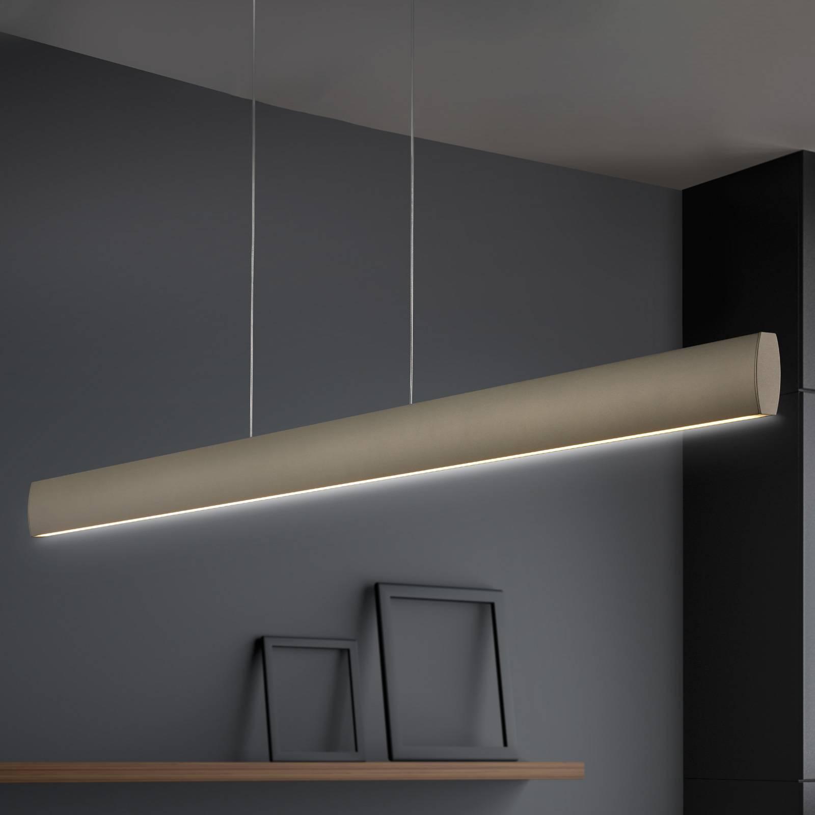 Suspension LED Runa, bronze, longueur 92cm
