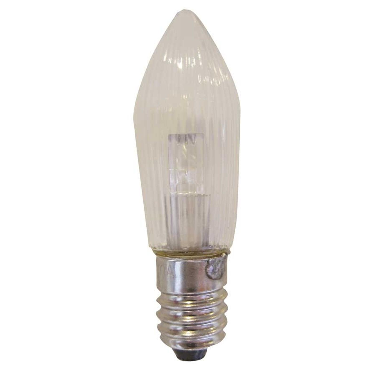 E10 0,1W 10-55V LED zapas żarówki op 3cz świeczka
