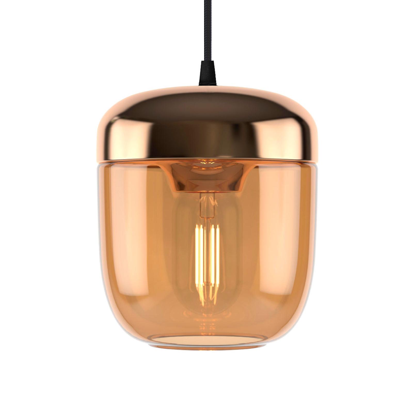 UMAGE Acorn suspension à 1 lampe ambre laiton