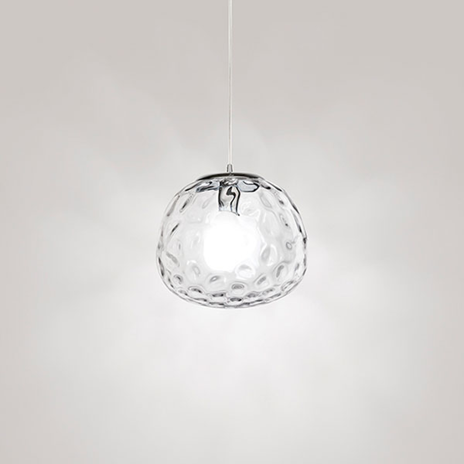 Suspension 6466 avec verre transparent Ø 30 cm