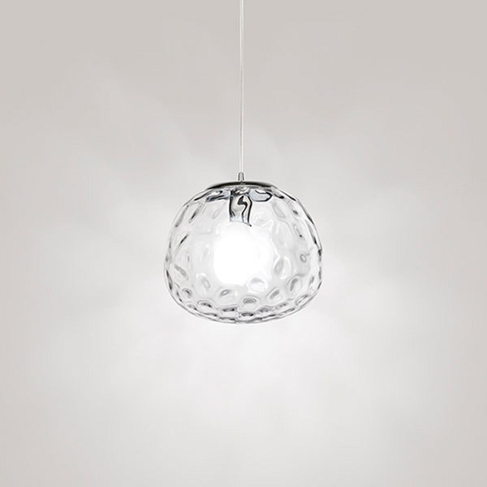 Lampa wisząca 6466 z przezroczystym kloszem 30 cm