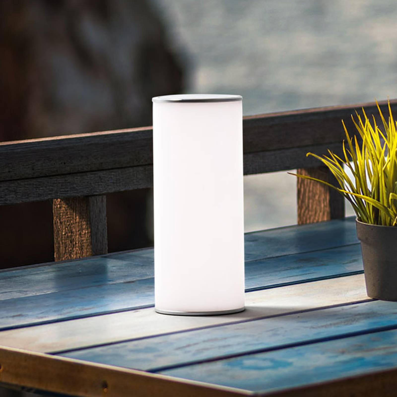 LED tafellamp Thalia met omkeerbaar licht, wit