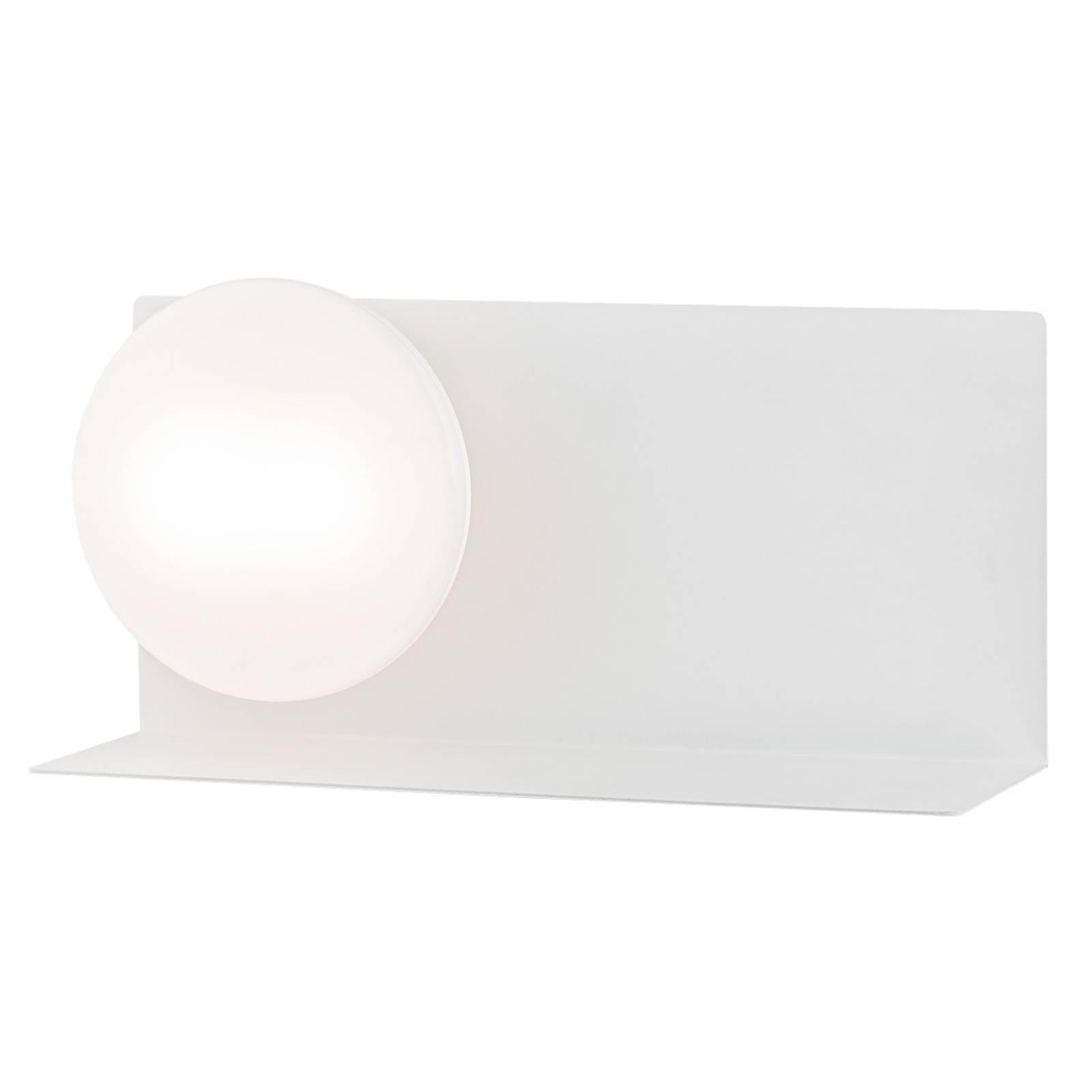 Applique LED Clark avec verre sphérique, blanc