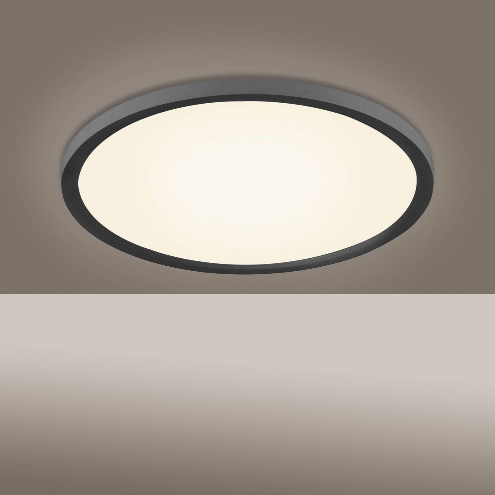 LED plafondlamp Flat CCT, Ø 40 cm, zwart