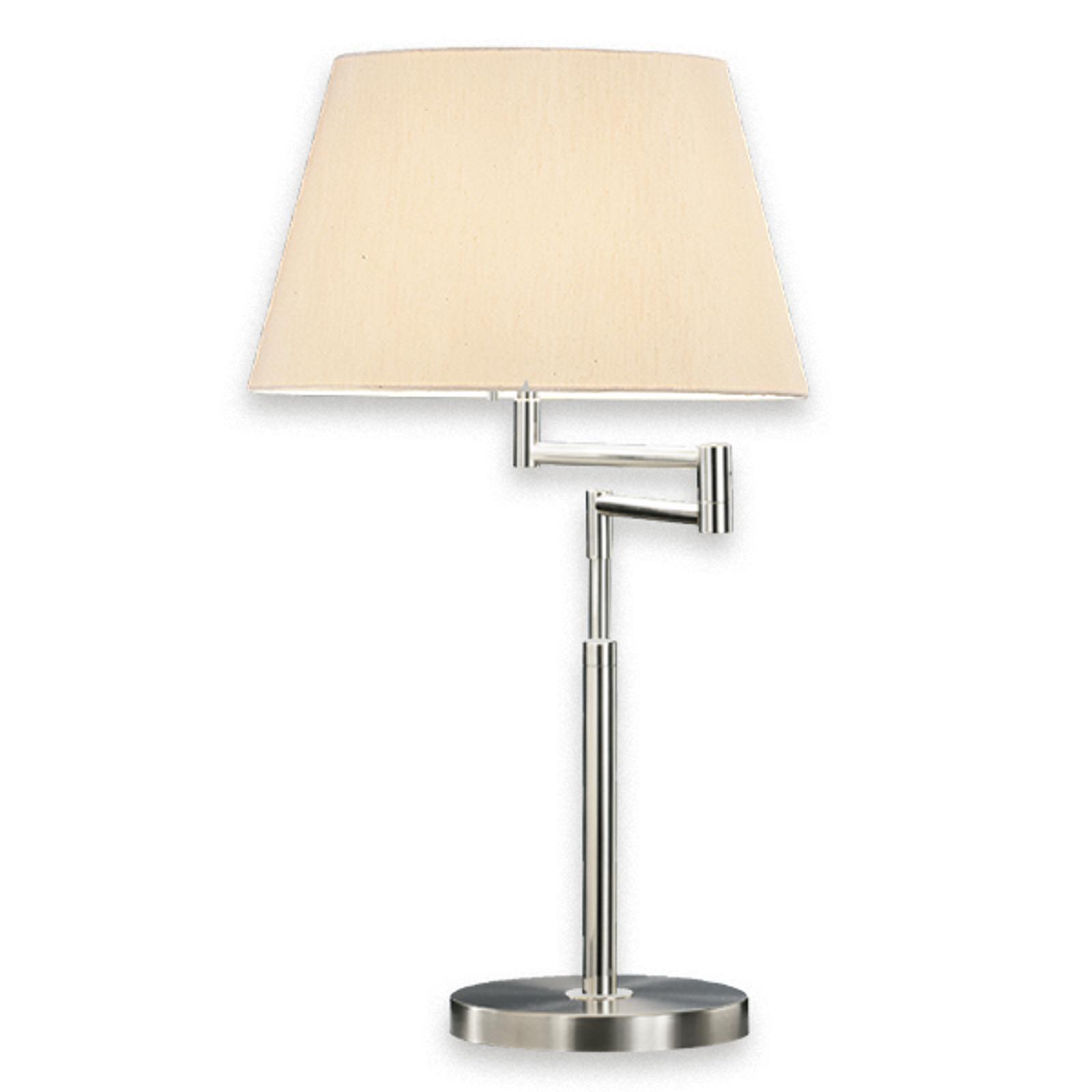 KNAPSTEIN hoge tafellamp LORD MINI, nikkel