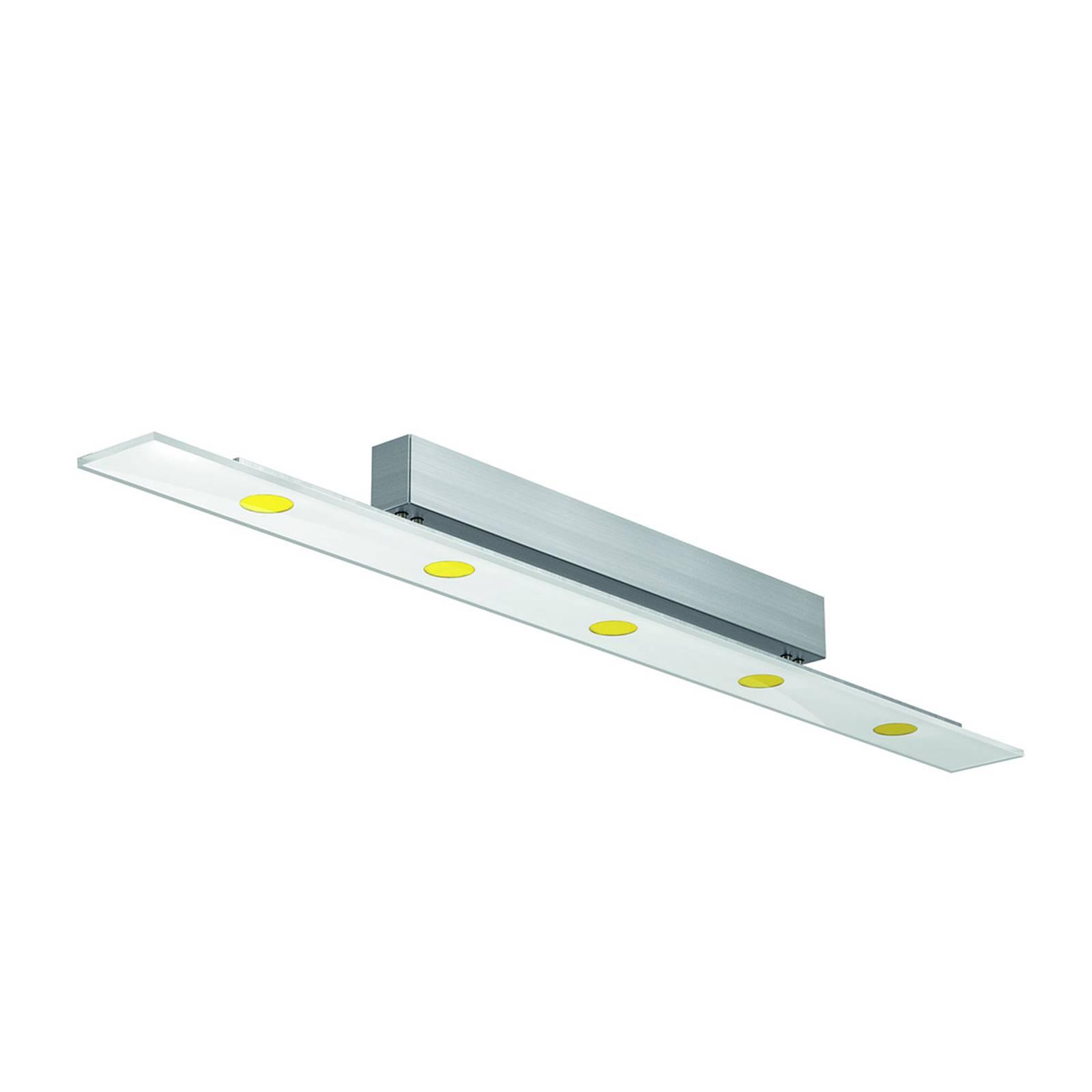 Lampa sufitowa LED Sun ze szkłem ESG 110 cm