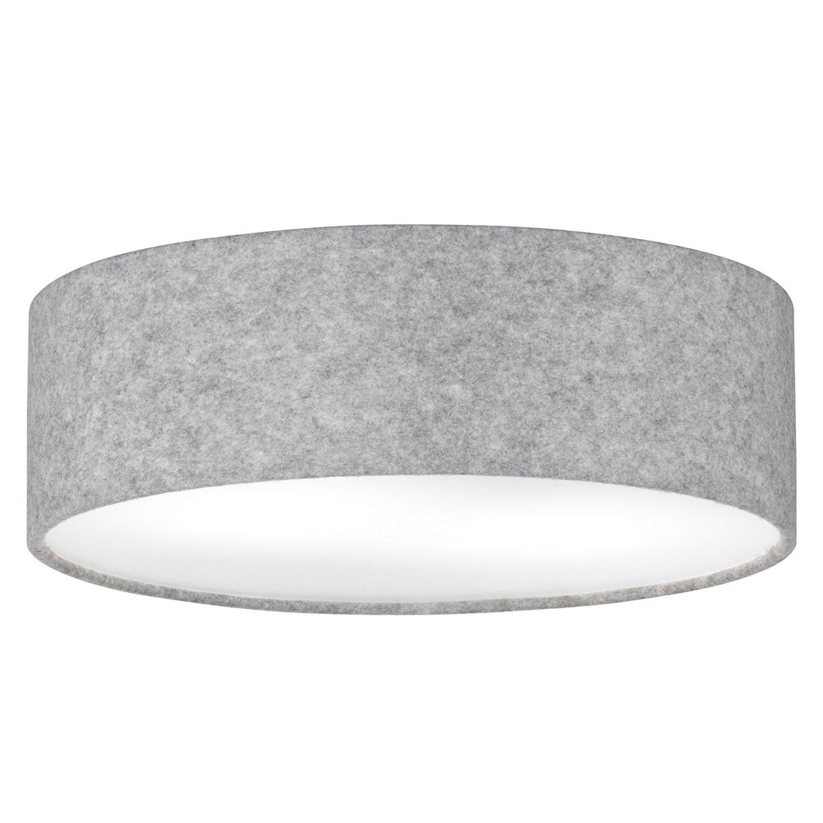Produktové foto FISCHER & HONSEL Šedé stropní světlo Balder splstěným stínítkem