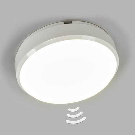 Bulkhead rund LED-loftlampe med sensor