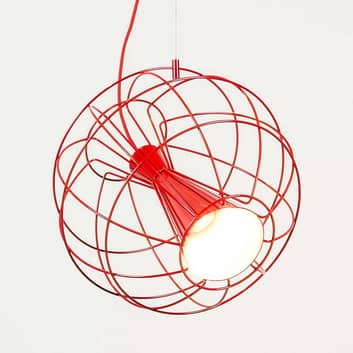 Lámpara LED colgante de diseñador Latitude roja