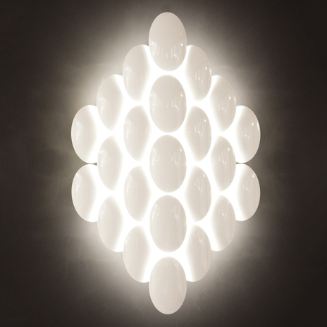 Lampa ścienna LED OBOLO, chrom, 16-pkt.