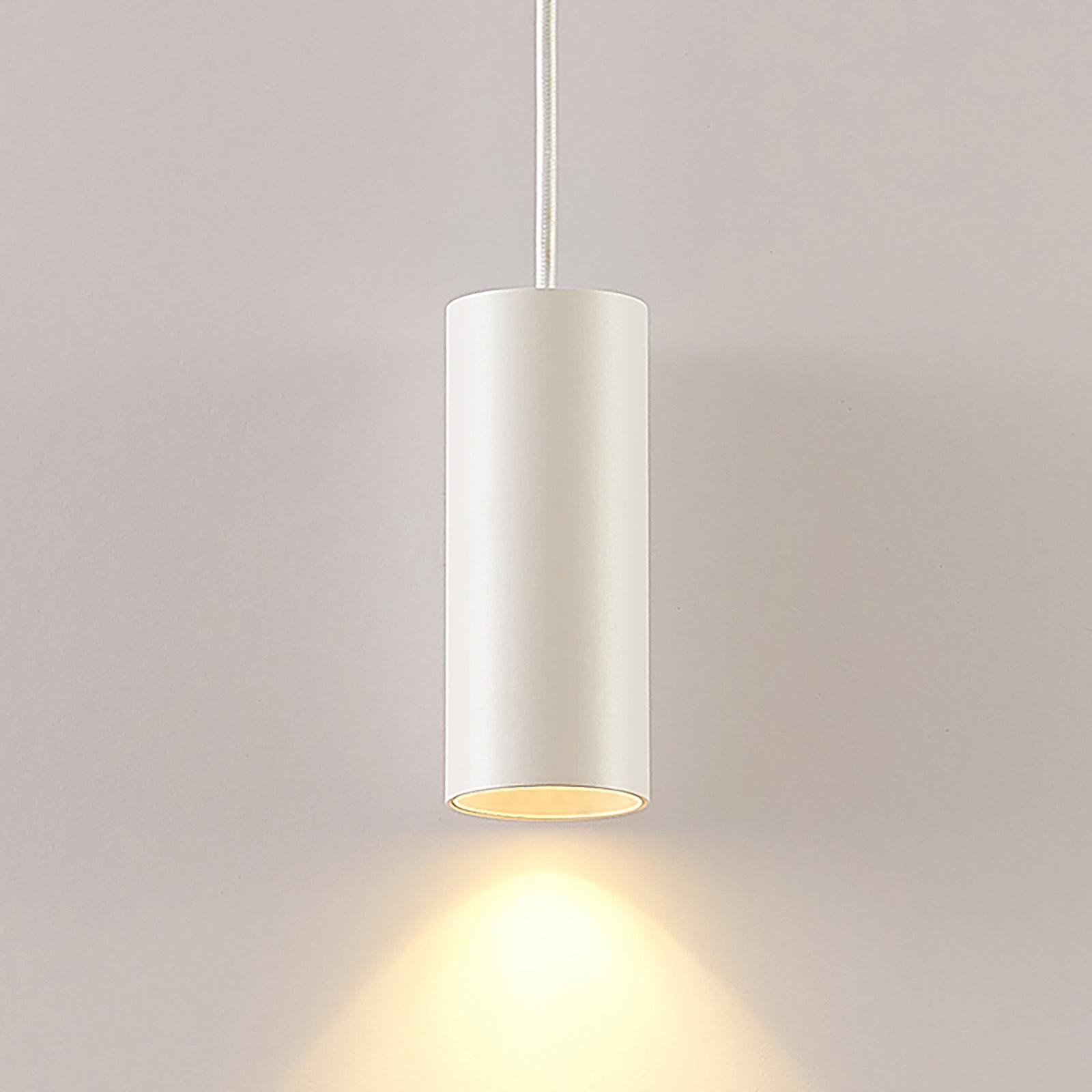 Arcchio Ejona lampa wisząca, wysokość 15 cm, biała
