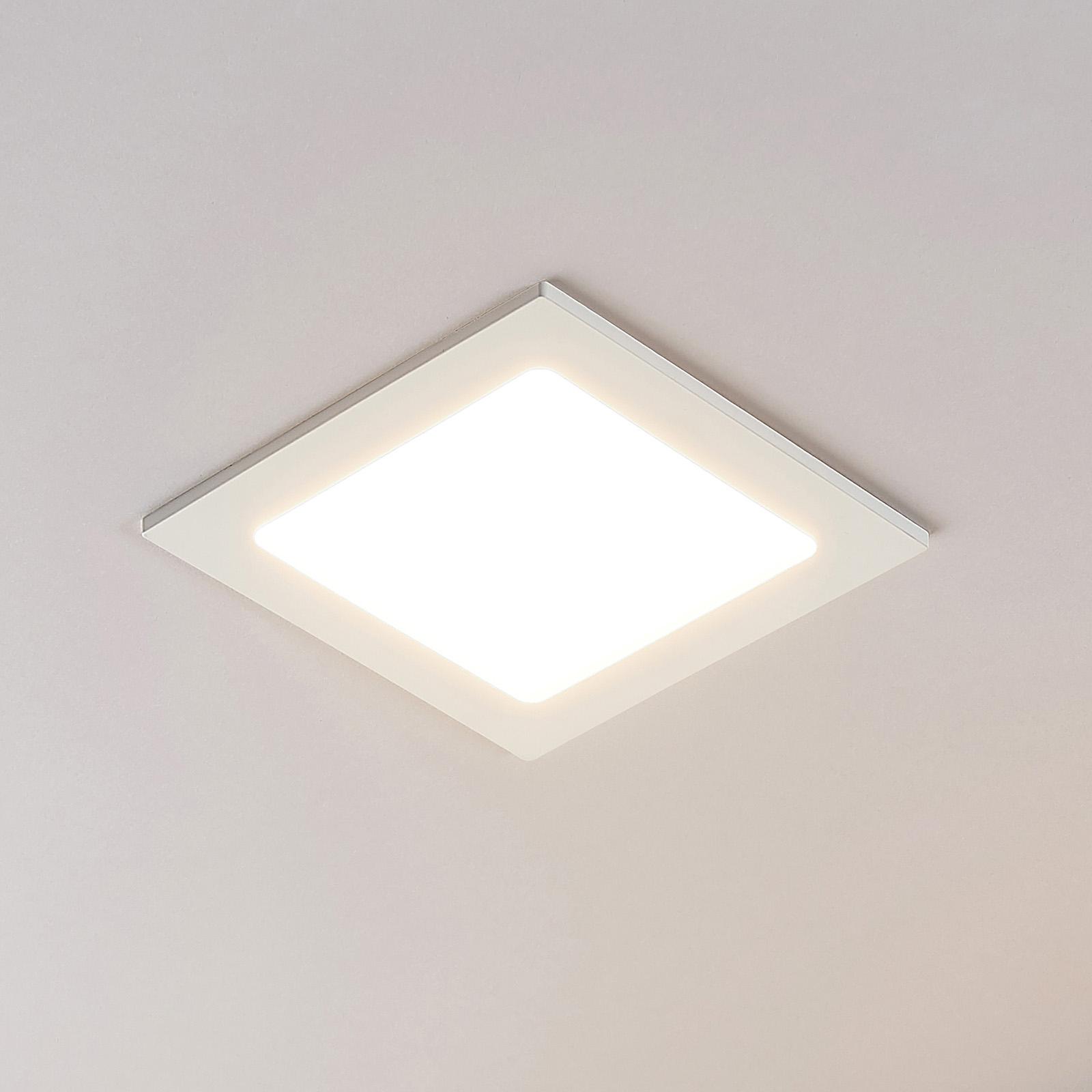 Downlight LED Joki bianco 3000K quadrato 17cm