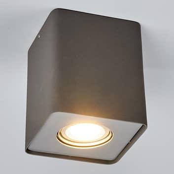 GU10-LED-downlight Giliano, 1lk., kantet, grafitt