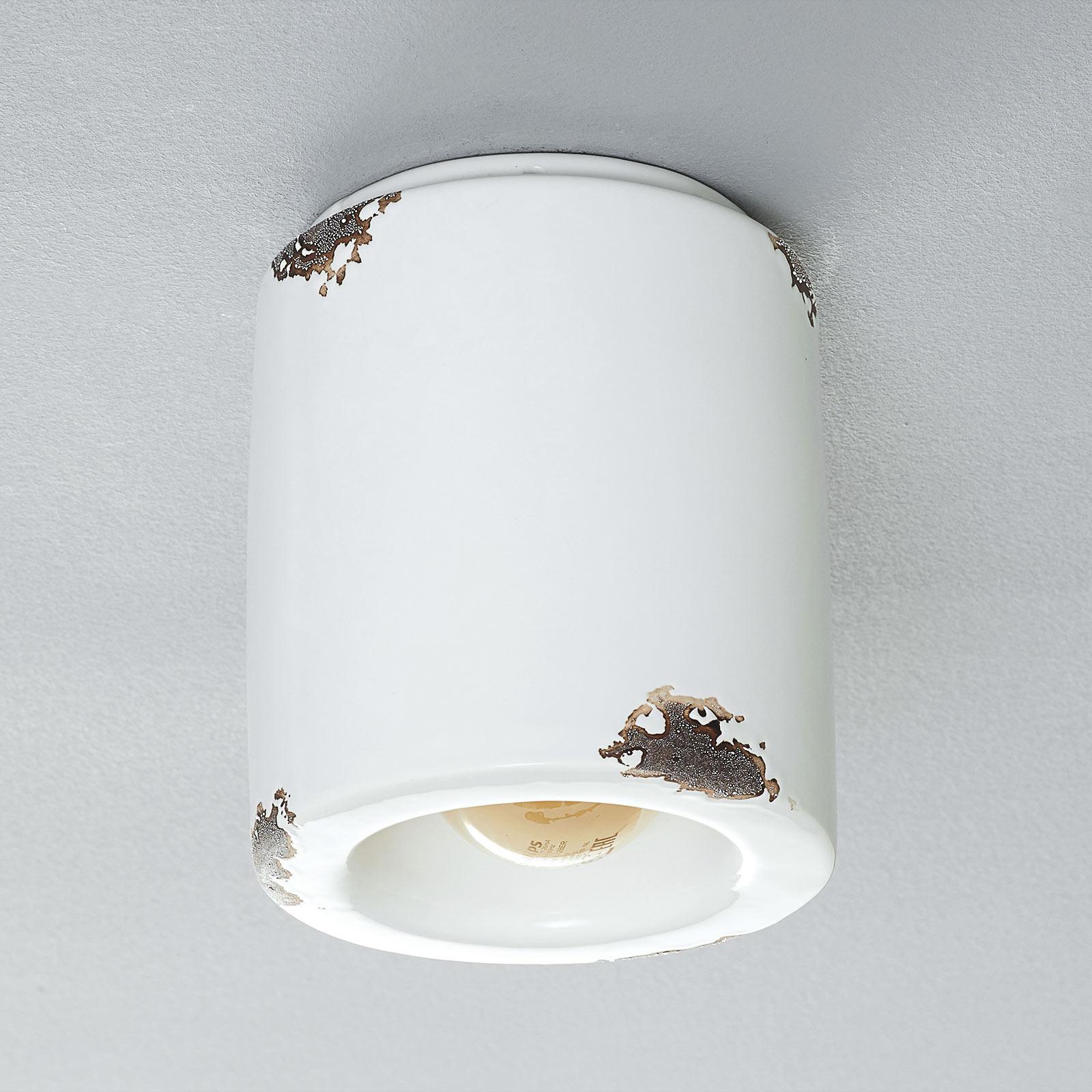 Lampa sufitowa C986 w stylu vintage, biała