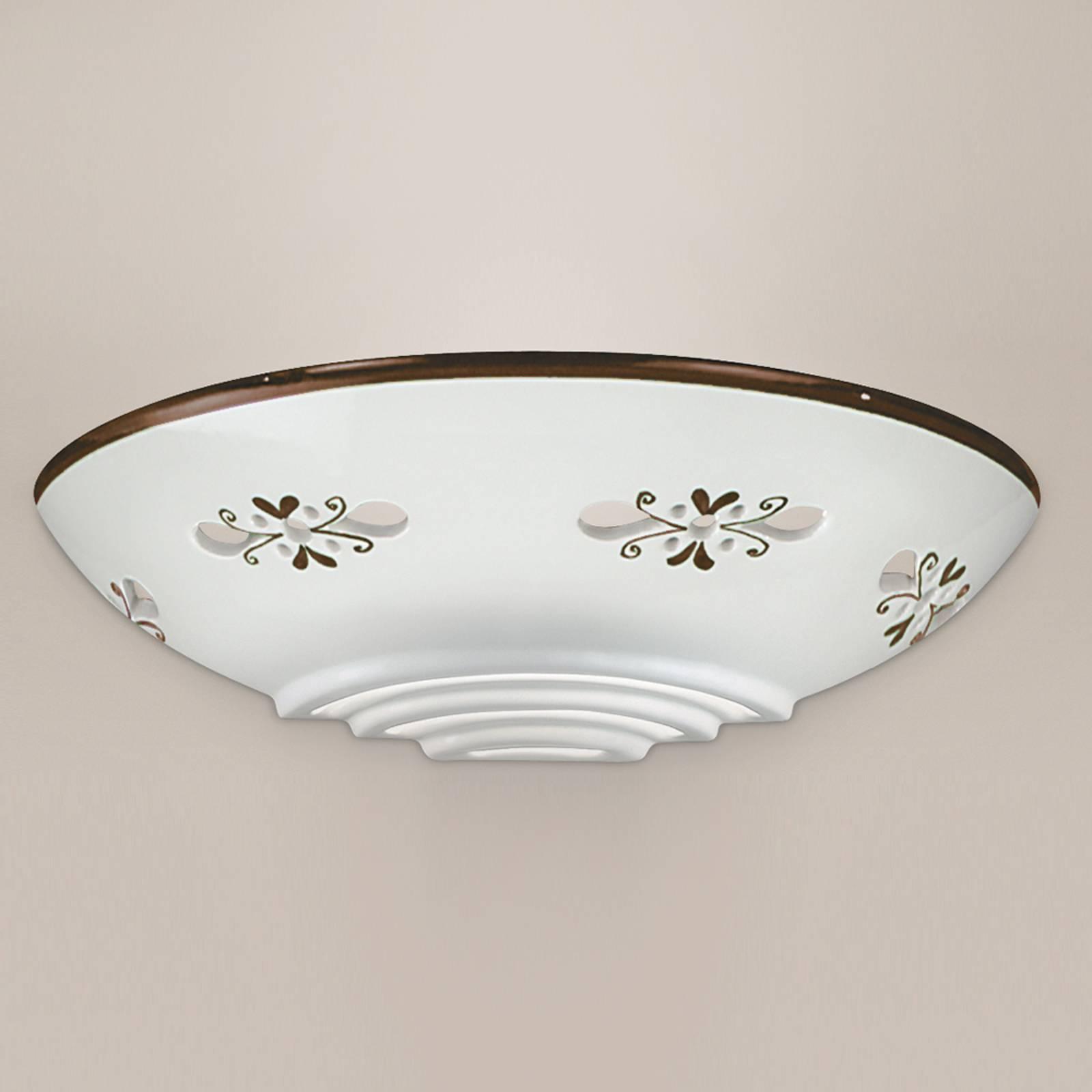 Bassano - mooie keramiek wandlamp, bruin