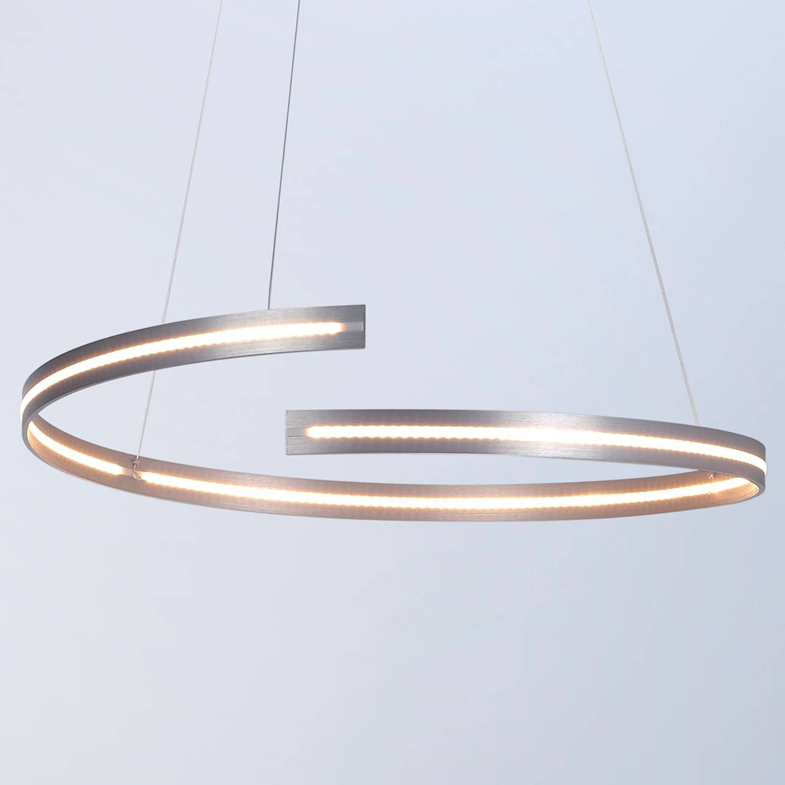 Bopp Break - LED-Hängeleuchte, 70 cm alu