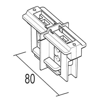 Ivela Längsverbinder 3-Phasen-Schiene LKM