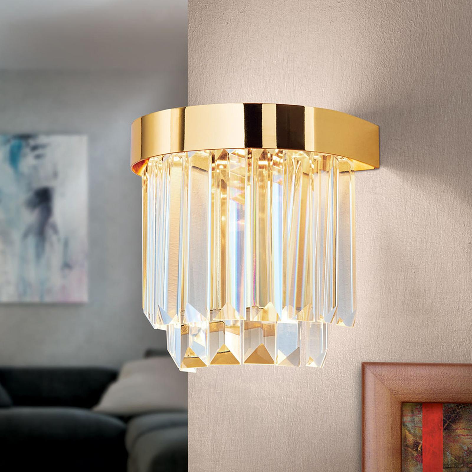 Kinkiet LED Prism z Up- and Downlight, złoty