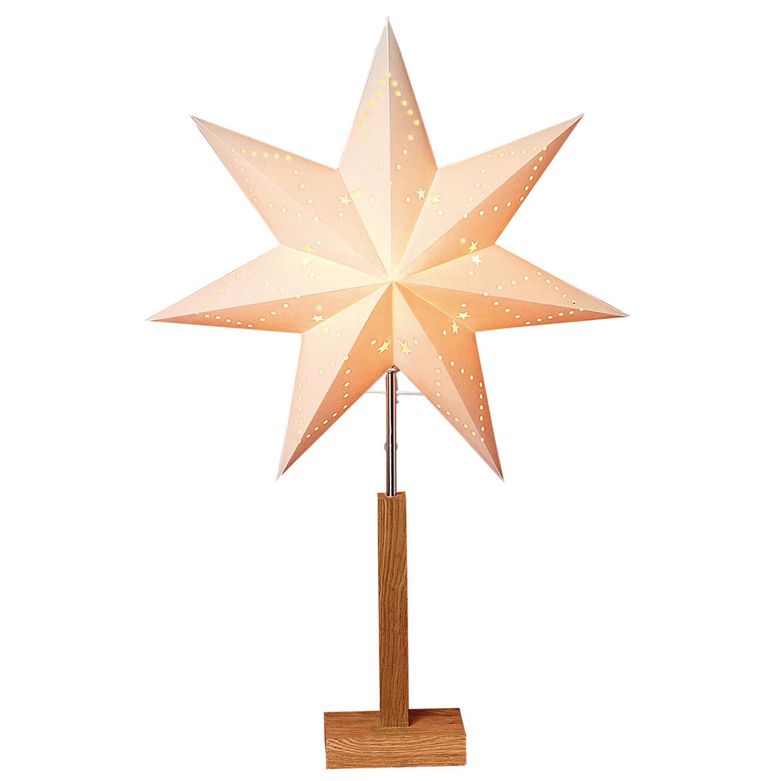 Lampe déco Karo à pied, étoile à motif