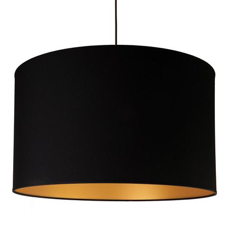 Hanglamp Roller, binnen goud, buiten zwart