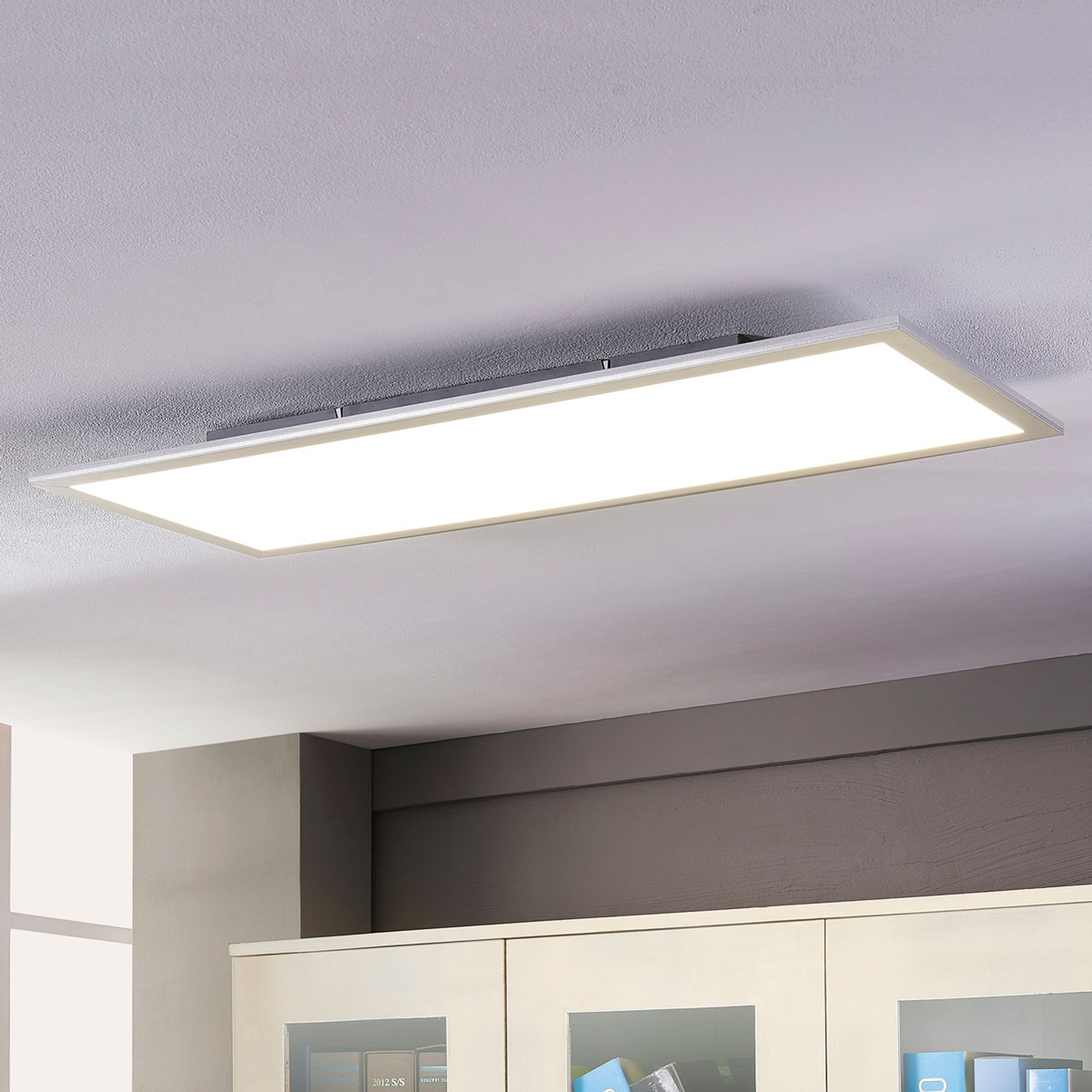 Lindby Livel LED-panel, 4000K, 120 cm x 30 cm