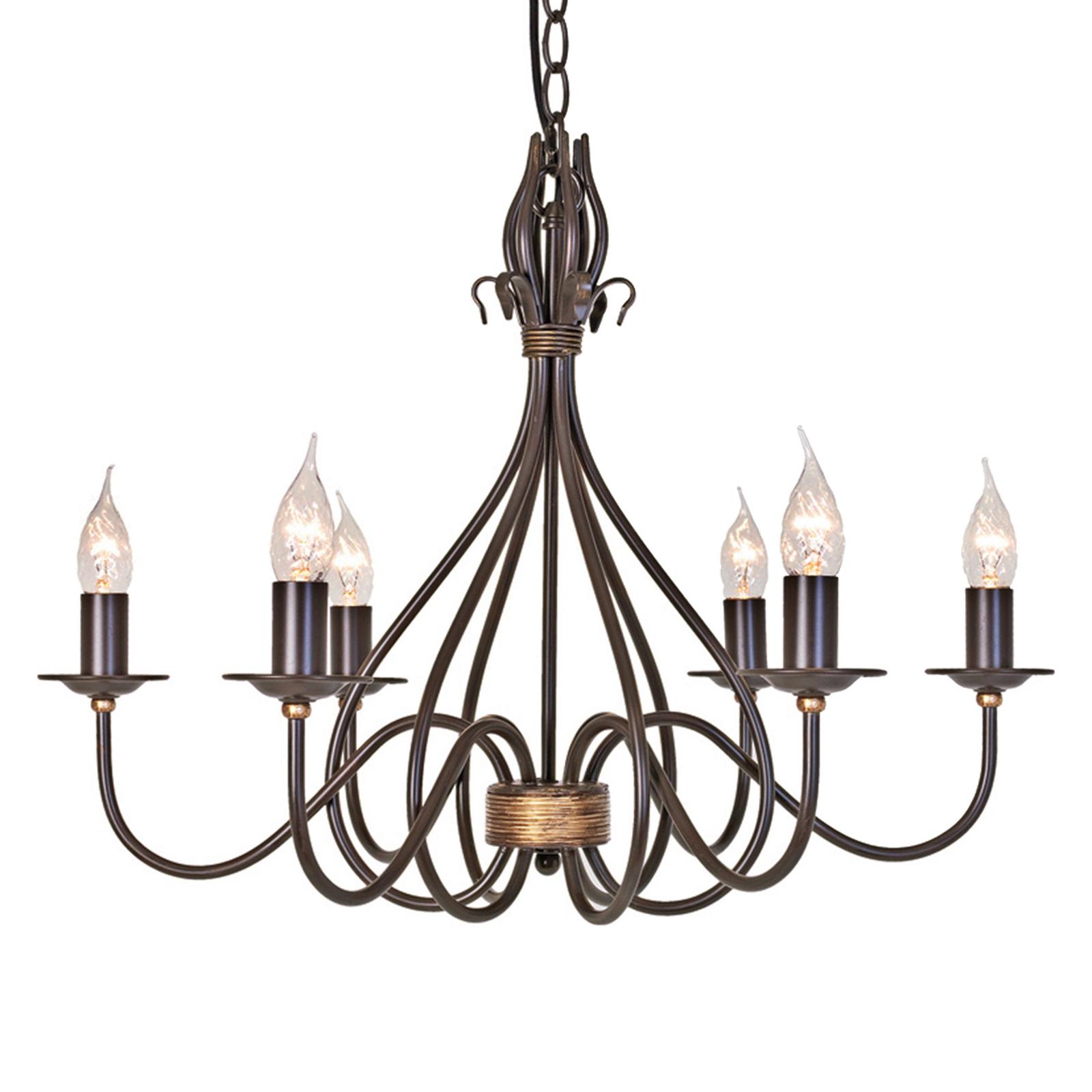 Kroonluchter Windermere 6-lamps