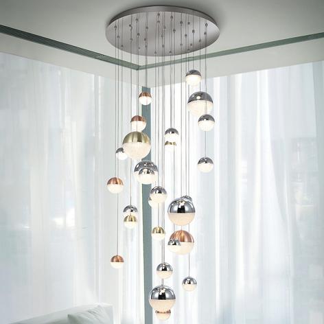 LED-Hängeleuchte Sphere, multicolour, 27-flammig