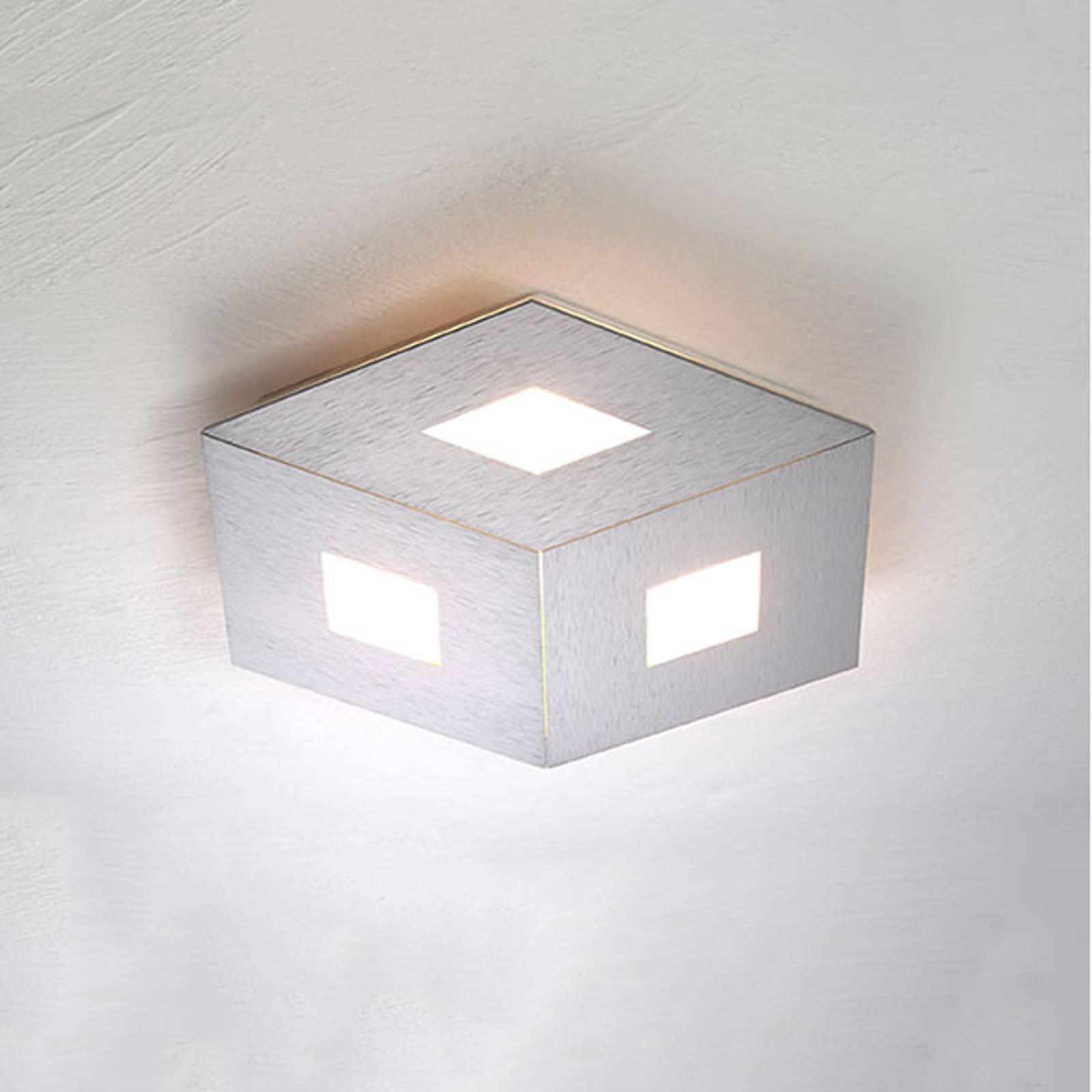 Bopp box Comfort LED plafondlamp zilver 35cm