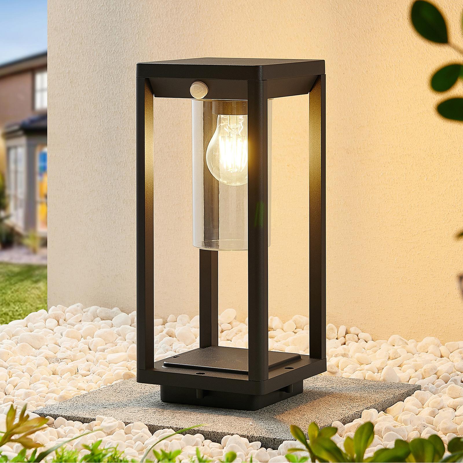 Lindby Abilum lampioncino, grigio scuro, 35 cm