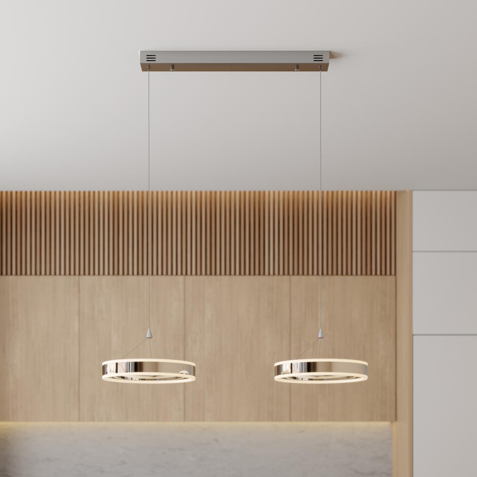LED hanglamp Lyani, 2 ringen naast elkaar