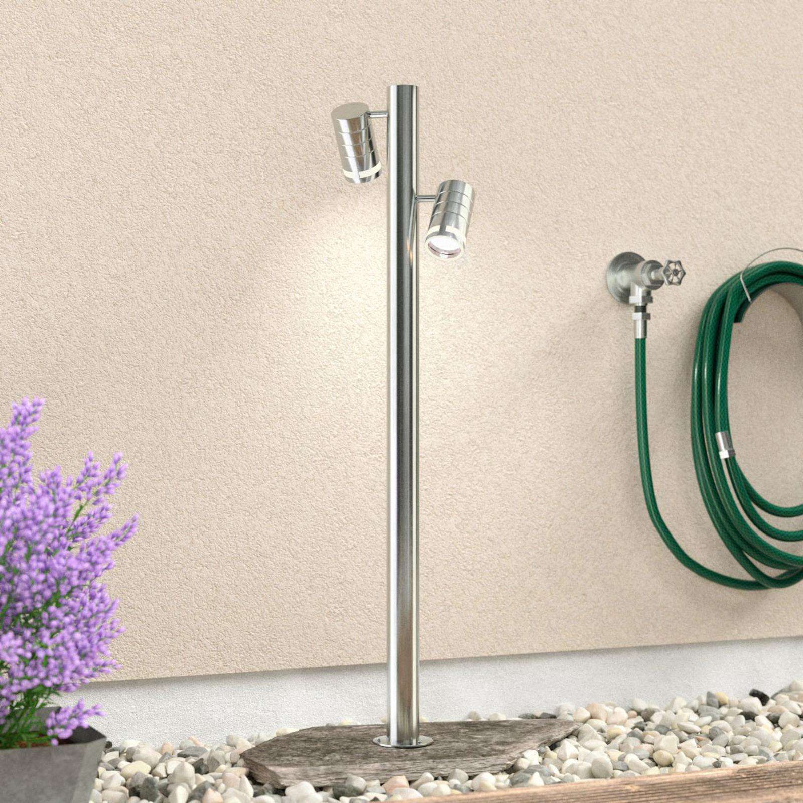 2 lyskilder gadelampe af rustfrit stål Zilly II