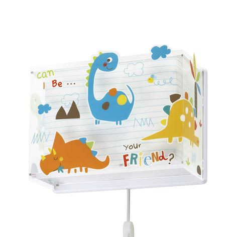 Kinder-wandlamp Dinos met stekker