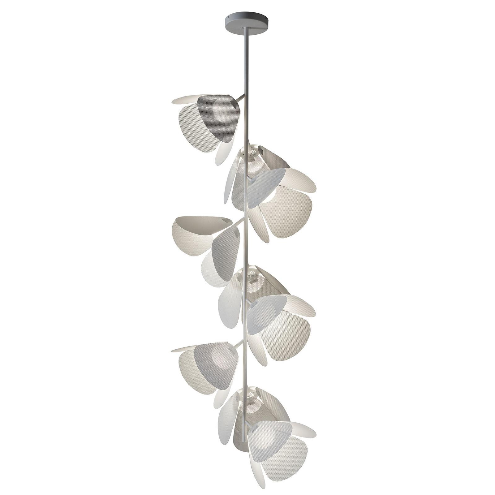 Bover Mod PF/73/9L LED-loftlampe, hvid, perforeret