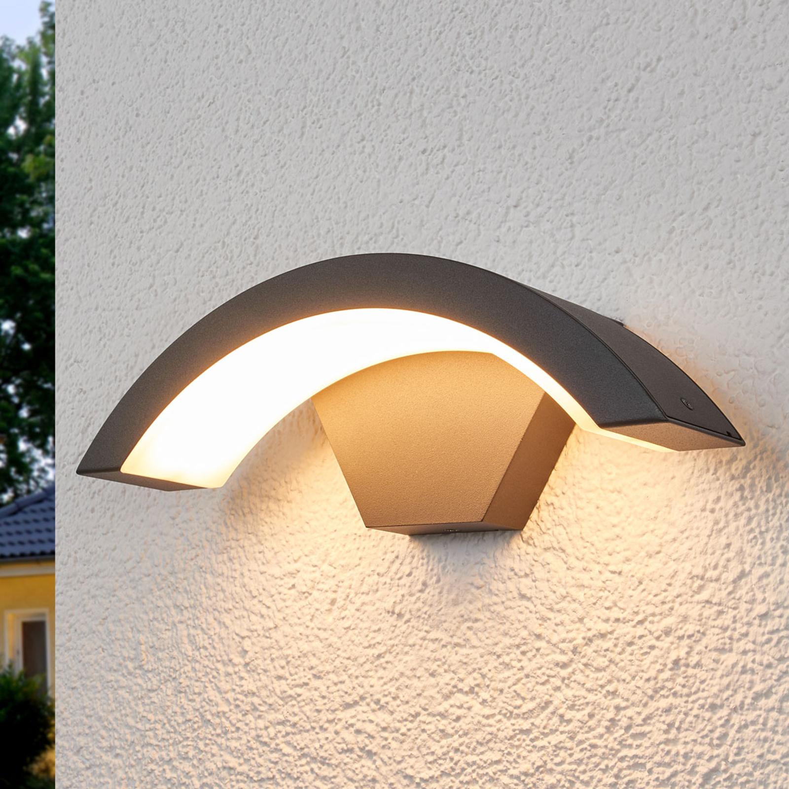 Gebogen LED buitenwandlamp Jule