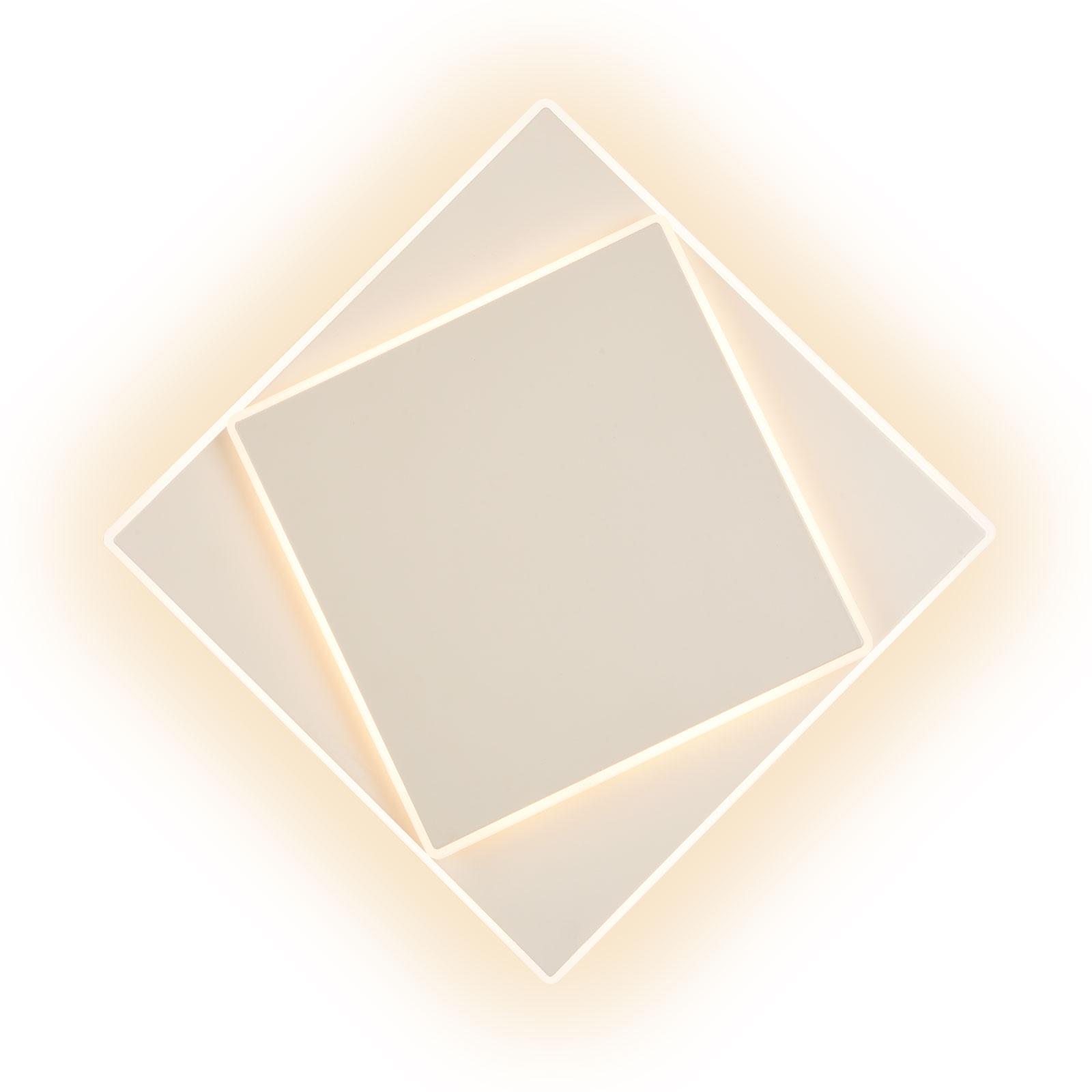 Applique LED Dakla, blanche, 28x28cm