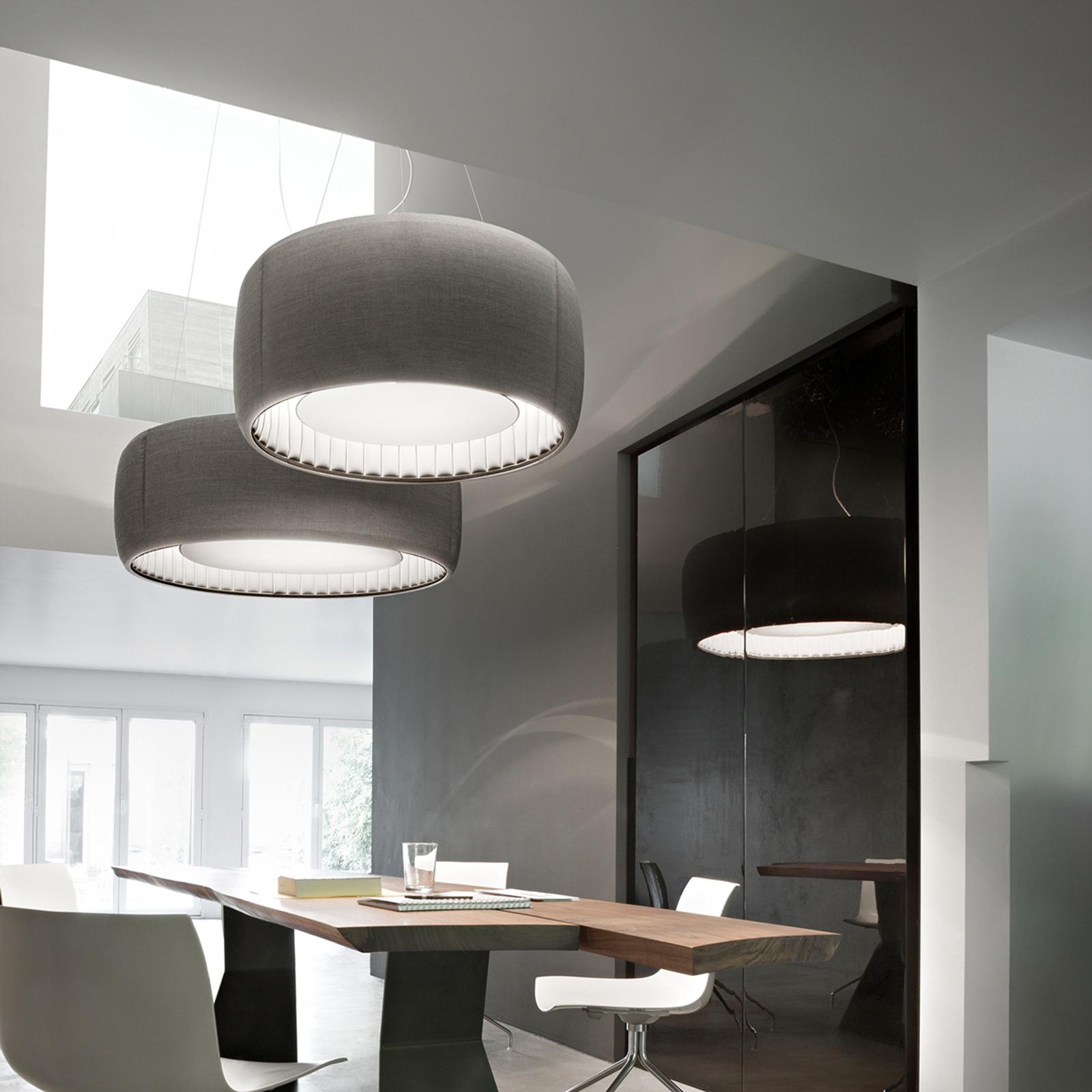 Luceplan Silenzio LED-Pendelleuchte grau Ø 120cm