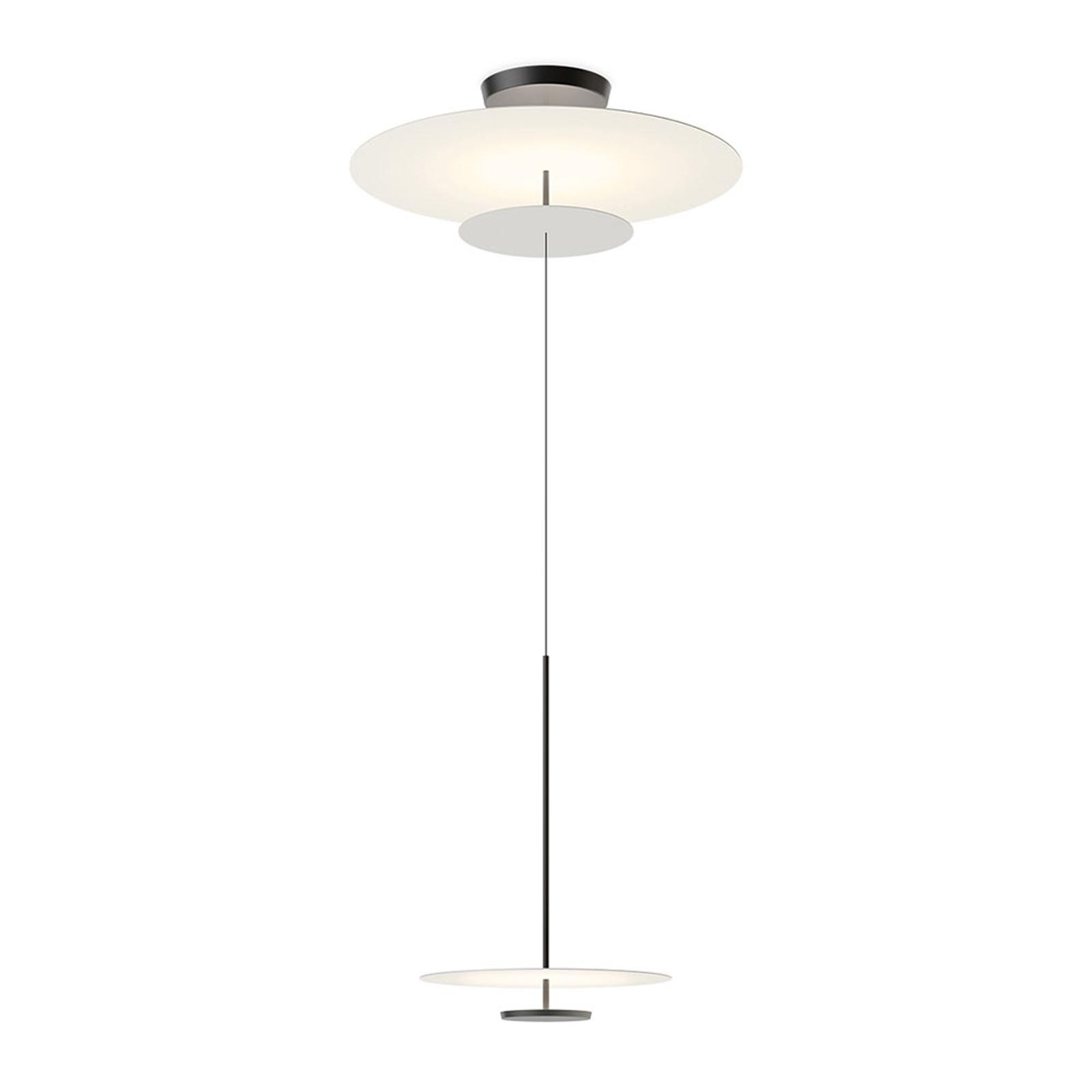 Vibia Flat LED-Hängelampe 3-flg. Ø 90cm grau L1