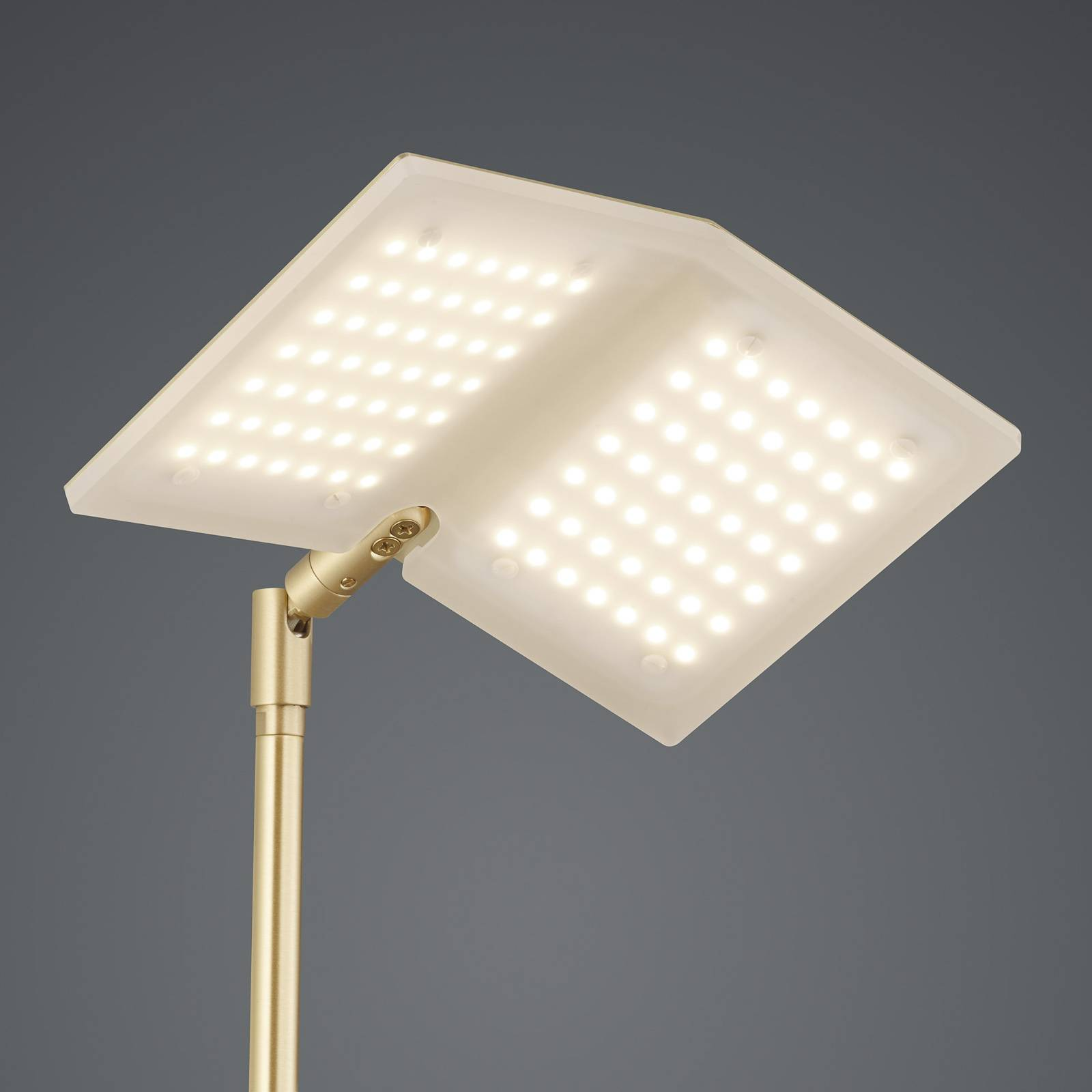 BANKAMP Book LED vloerlamp messing