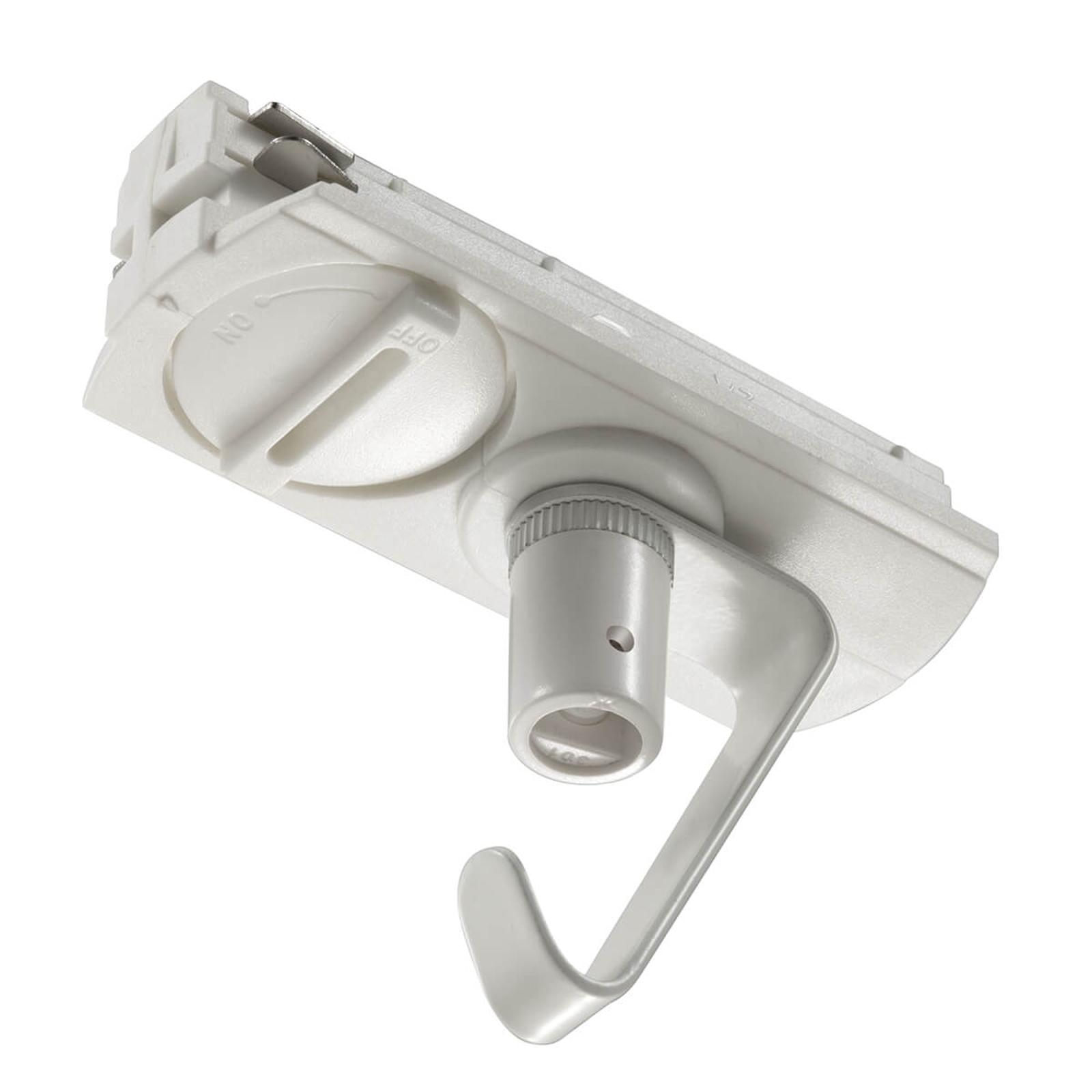 Pendeladapter for skinnesystem venstre, hvit