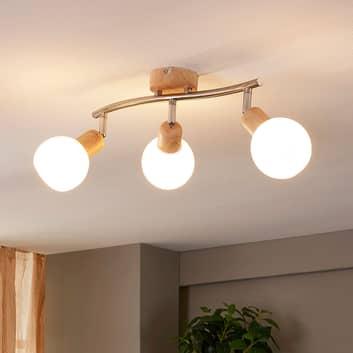 LED-Deckenleuchte Svenka, 3-flg., länglich