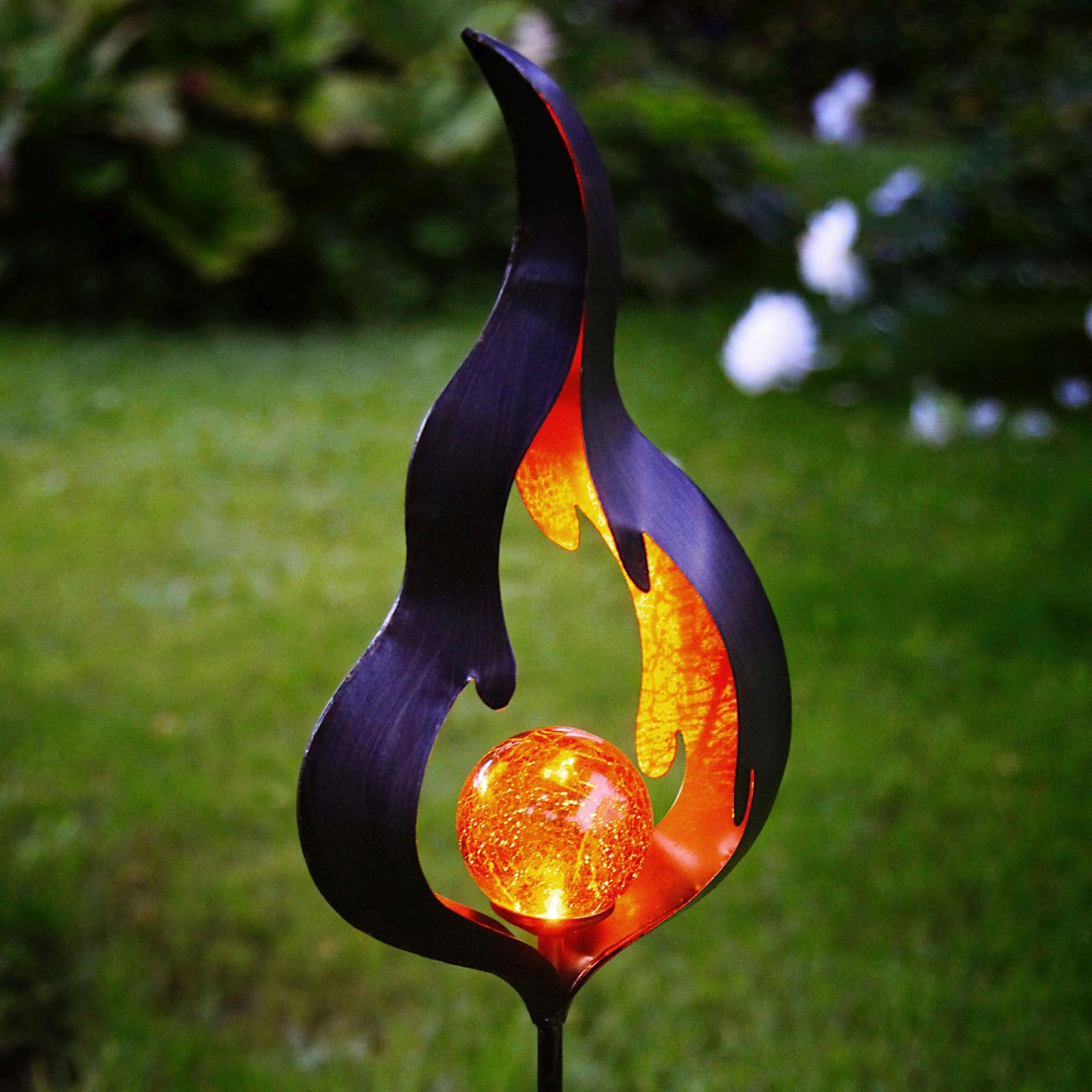 Solcelledrevet jordspydlampe Melilla med LED