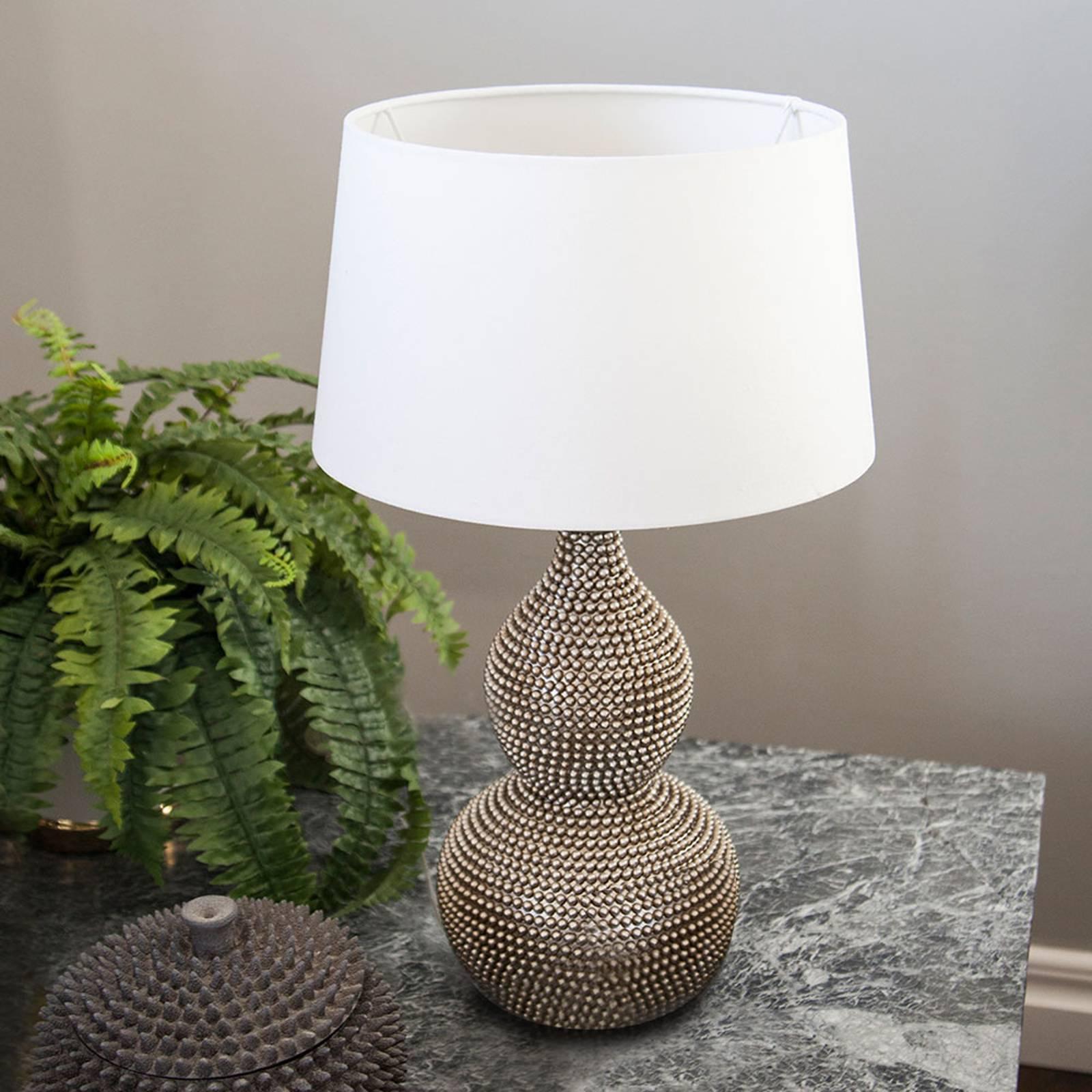 By Rydéns Lofty lampe de table tissu blanc