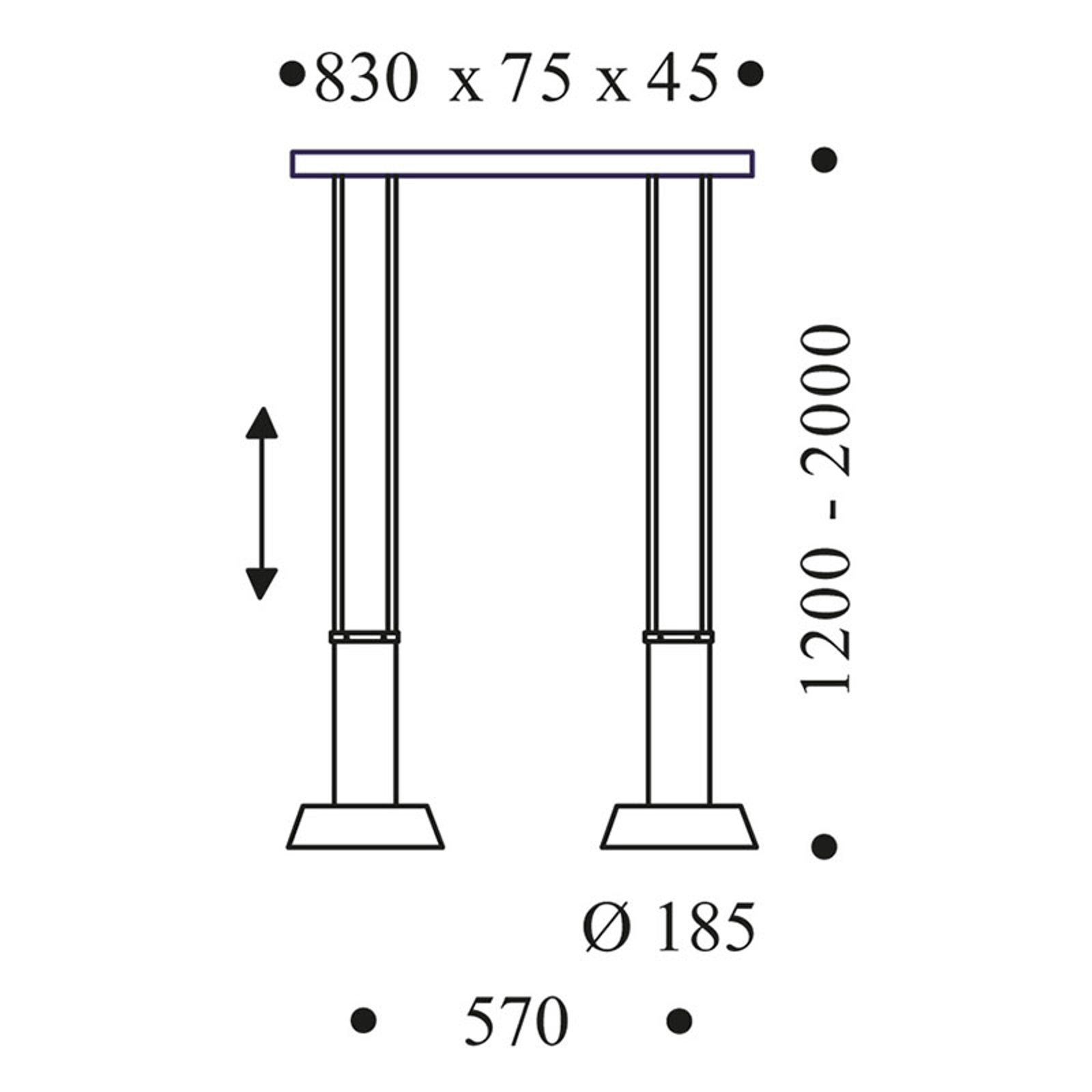 OLIGO Glance LED hanglamp 2-lamps zwart