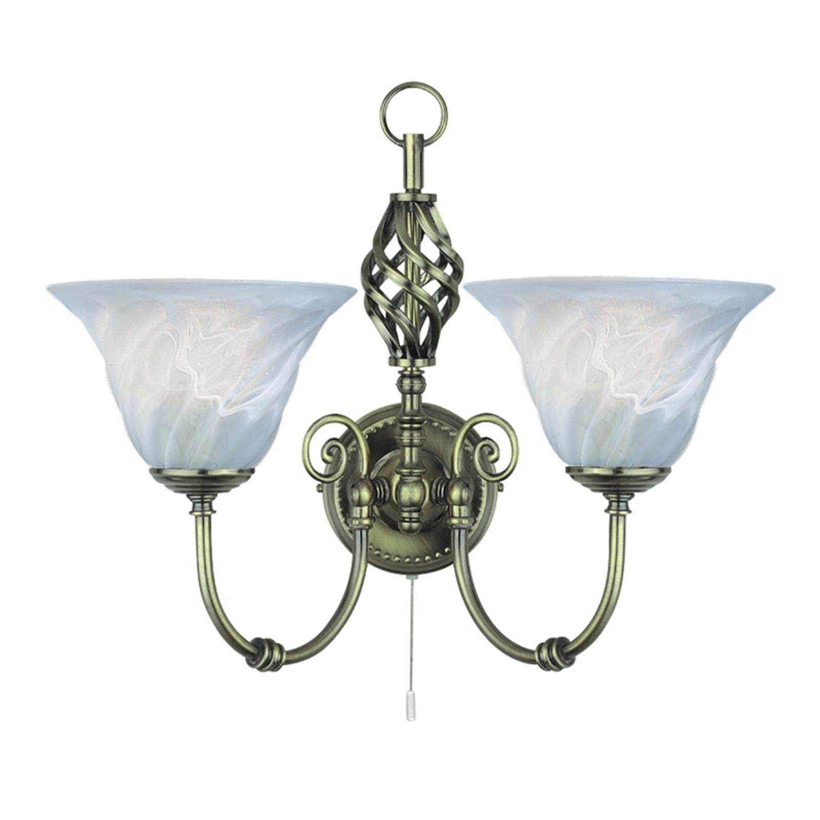 Traditionele wandlamp CAMEROON met schakelaar