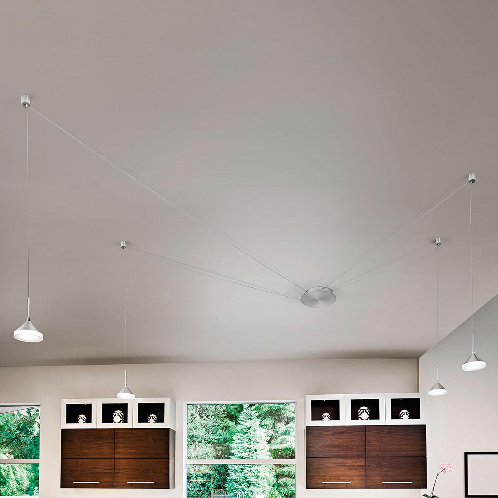 Acht Kabelsteckplätze - LED-Pendellampe Isabella