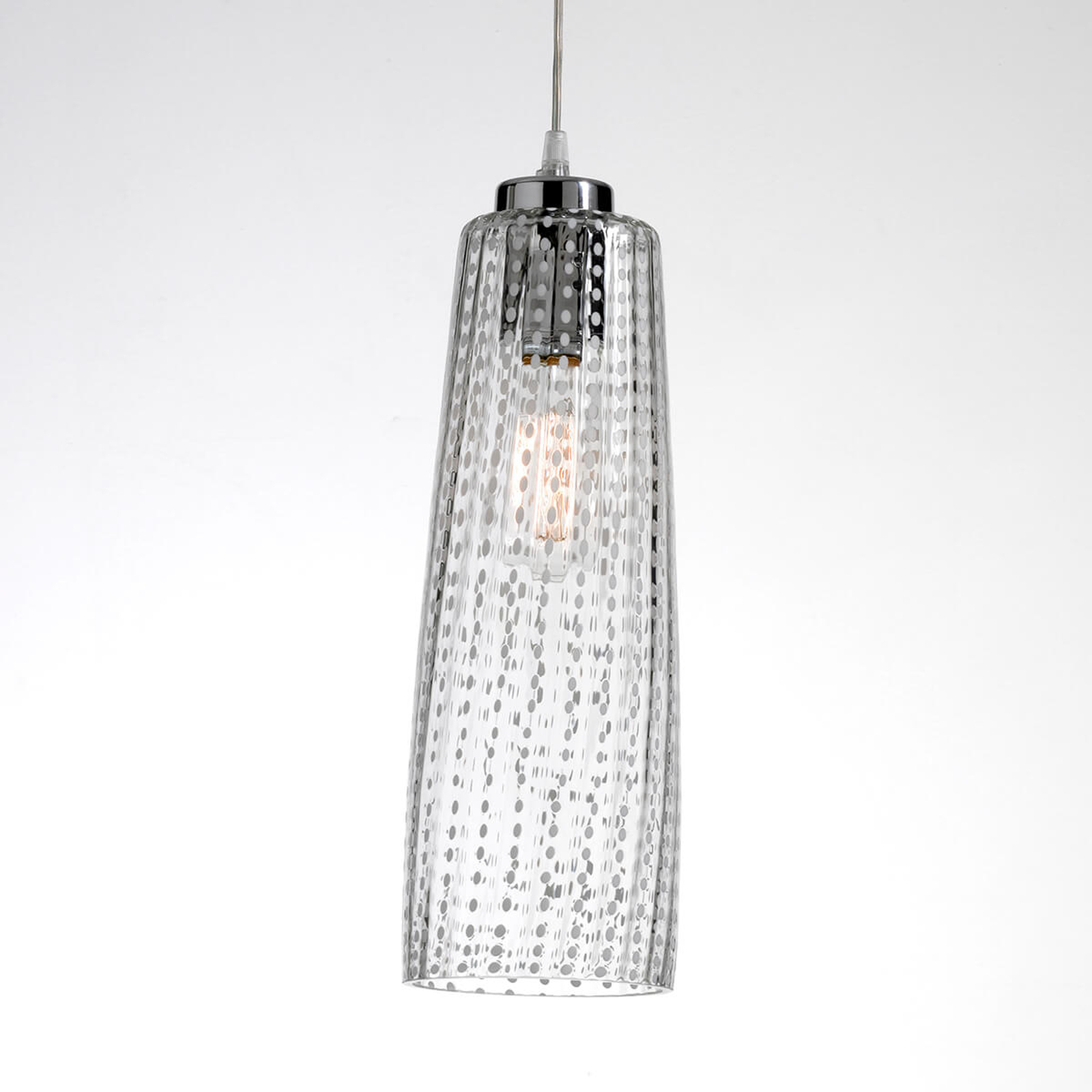 Glazen hanglamp Perle, transparant